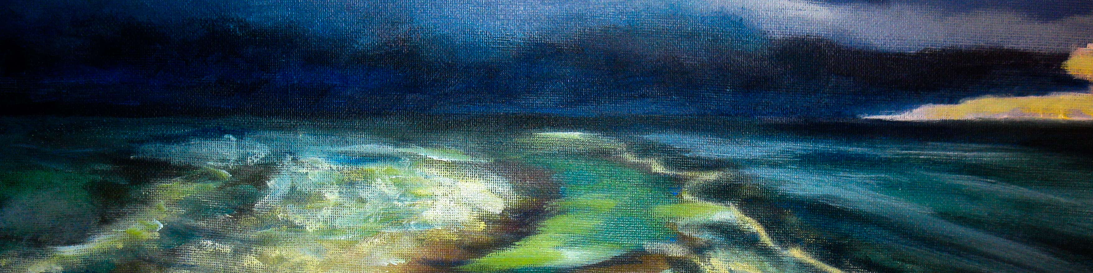 Ocean Painting by Helen Jefferson Lenskyj
